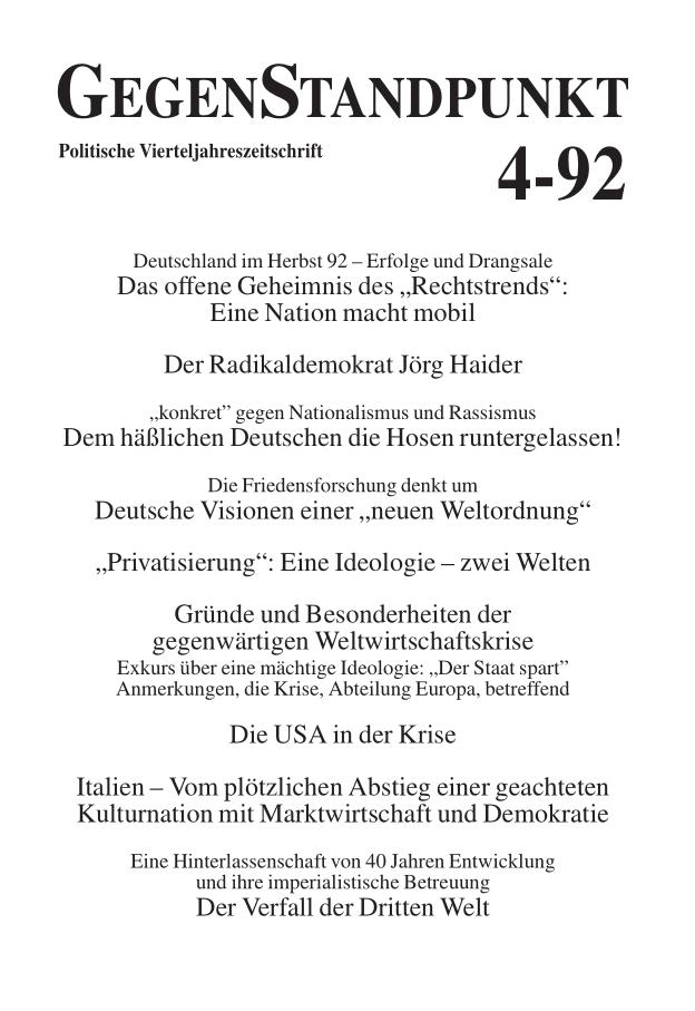 Titelblatt der Zeitschrift GegenStandpunkt 131
