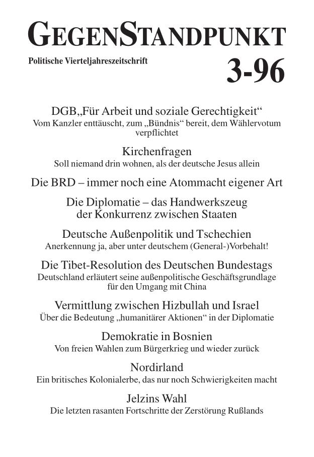 Titelblatt der Zeitschrift GegenStandpunkt 117