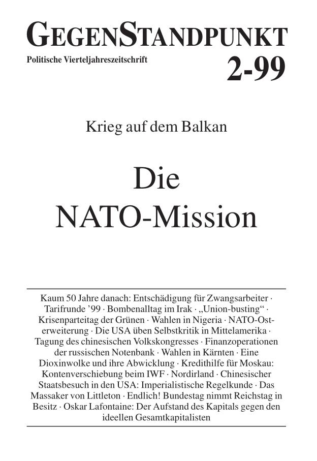 Titelblatt der Zeitschrift GegenStandpunkt 106