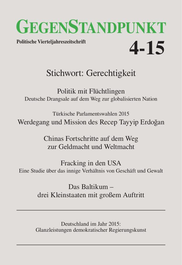 Titelblatt der Zeitschrift GegenStandpunkt 4-15