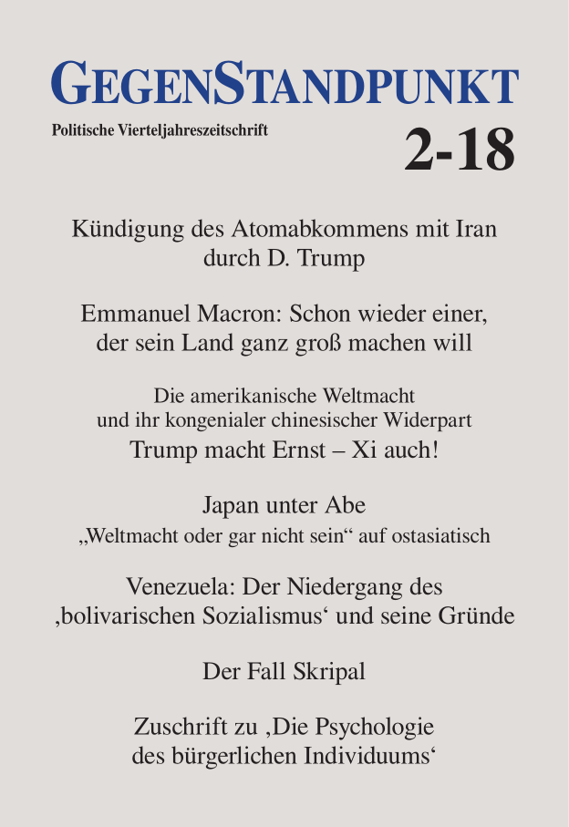 Titelblatt der Zeitschrift