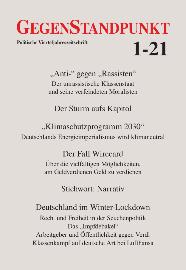 Titelbild des GegenStandpunkt 1-21